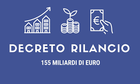 """DECRETO """"Rilancio""""  LEGGE 19 maggio 2020  n 34"""